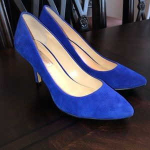 Gorgeous cobalt blue suede pumps. Worn once!